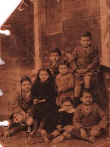 Pa (the little chubby one in the middle) with his siblings, before being shipped off to India to live with his Aunt & Uncle, upon the death of his mother.