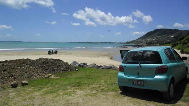 Not Whangamata. But still a solitary roadtrip (with the late Mintie, who was written off after being hit by another car).